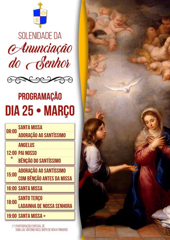 Solenidade da Anunciação do Senhor Jesus, em 25 de março de 2021.